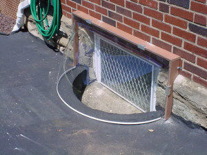 Window Well Cover for Metal Wells: Model 1-S Extension for Foundation